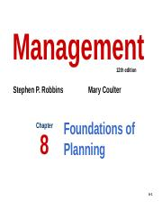 Chap 8 - Foundations of Planning.pptx