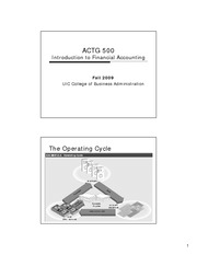 ACTG 500 Handout 3 Transaction analysis continued