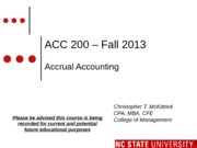 #04 SEC 4 MOODLE ACC200 Accrual Accounting  - Fall 2013