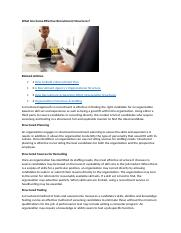 What Are Some Effective Recruitment Structures.docx