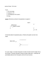 Lecture 4 Notes RC Circuits