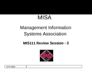MISA Review Exam3 Fall2007