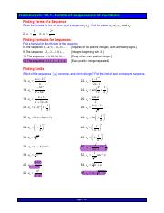 10.1Exercises sequences Hw