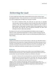 Delivering the mail.docx