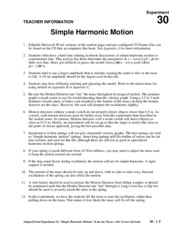 30_Simple_Harmonic_Motion_Teacher