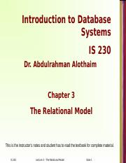 Lecture 3 - Relational Model.ppt