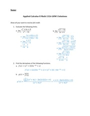 MATH1326 Homework 1 Solutions