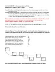 Homework help in oceanography