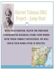 Harriet Tubman DBQ Project.pptx