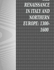 THE RENAISSANCE IN ITALY AND NORTHERN EUROPE2