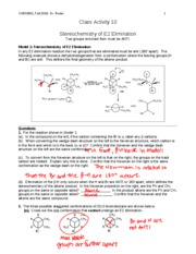 CHEM301 F10 CA10 key