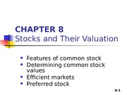 Lecture 5 - Stocks and their valuation - NR