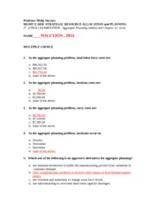 MGMT E-5050 Student Slides THIRD EXAMINATION SOLUTION Winter 2014