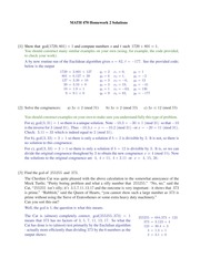 Homework 2 Solution Spring 2015 on Number Theory
