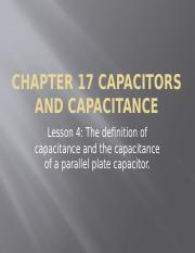 Chapter 17 lsn4 Capacitors 2017(1)