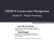 Lecture 9-Project Financing I