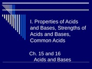 Acids and Bases Notes