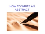 HowToWriteAnAbstract.ppt