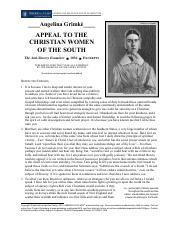 NHC- Abolitionism and Women- Grimke Appeal to the Christian Women of the South 1836.pdf