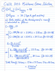 CWR 3103 Midterm Exam 2008 Solution