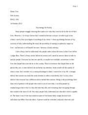 Essay 2 - Cause and Effect Essay