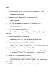 Ethic Study Guide Test 3