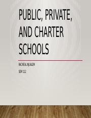 Public, private, and charter schools