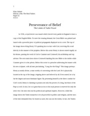 Tudor paper 2- Perseverance of Belief The Limits of Tudor Power