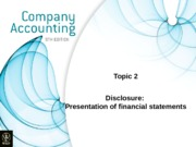 Topic 2 - disclosure presentation of financial statements 2 2012