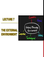 Lecture-8 Business External Environment (1)