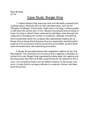 Word Case Study Burger King 4:1:14