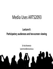 L6 Participatory audiences and two screen viewing