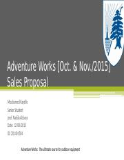 Adventure Works [Oct.pptx