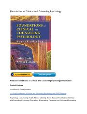 FoundationsofClinicalandCounselingPsychologyReviewSalePriceinBook