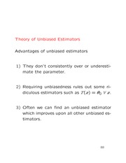 Lecture on Theory of unbiased estimators