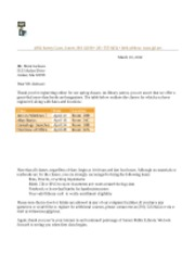 Lab 3-2 Library Letter and 3-2 Library Letterhead