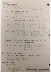 Elementary Matrices Lecture Notes