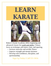 Make It Right 1-1 Karate Academy Flyer Unchecked