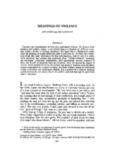 Cohen and Vandello Meanings of Violence