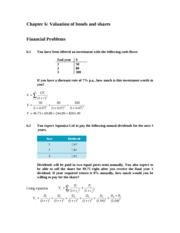 Chapter 6 - Solutions to Problems