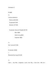 accy homework View homework help - accy 3101 homework #5 from accy 3101 at george washington university hmwk #5 chapter 7 p7 2, 3, 12 (a only), 13 p 7-2 1 allowance needed allowance for doubtful accounts.
