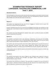 EXAMINATION FEEDBACK REPORT Laws20058
