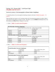 BIOL 2011 Lab Report 8 Answer Sheet