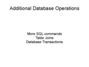 Lecture 12 - Database Transactions