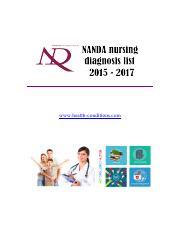 nanda nursing diagnosis