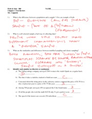 Ch 1 Test Review KEY