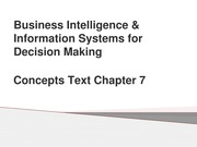 Business Intelligence & Information Systems for Decision Making