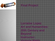 FinalProjectArtsandHumanities
