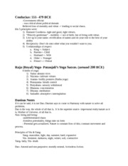 Confucius & 8 Limbs of Yoga & Daoism Notes