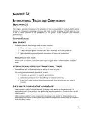 Baumol and Blinder Chapter 34 International Trade and Comparative Advantage from Instructors Manual